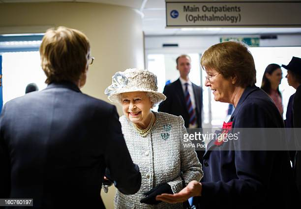 Queen Elizabeth II opens the new MRI unit at The Queen Elizabeth Hospital on February 5 2013 in King's Lynn England