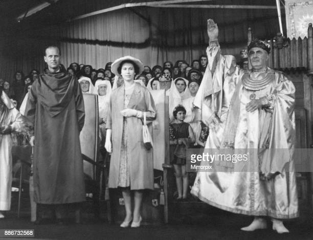 Queen Elizabeth II pictured during two day visit to the welsh capital Cardiff Wales Friday 5th August 1960 Out Picture Shows The Queen and Duke of...