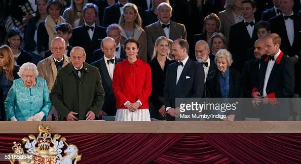 Queen Elizabeth II Prince Philip Duke of Edinburgh Catherine Duchess of Cambridge Donatus Prince and Landgrave of Hesse Princess Alexandra and Prince...