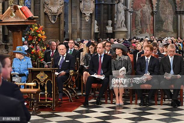 Queen Elizabeth II Prince Philip Duke of Edinburgh Prince William Duke of Cambridge Catherine Duchess of Cambridge Prince Harry and Prince Andrew...