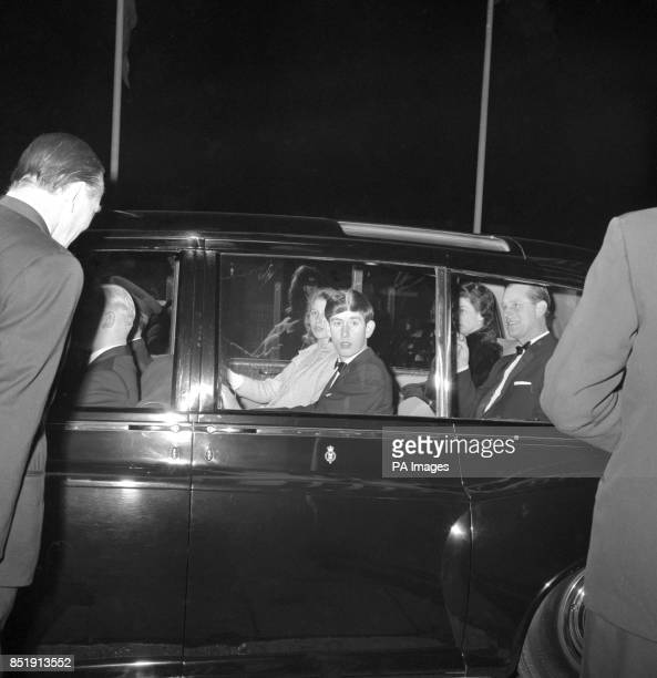 Queen Elizabeth II Prince Philip The Duke of Edinburgh Prince Charles and Princess Anne arrive for a charity performance of the Bertram Mills Circus...