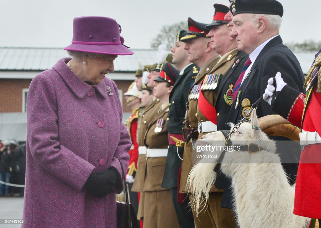 queen-elizabeth-ii-reviews-members-of-the-royal-welsh-regimental-and-picture-id647443108