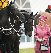 The Queen Attends The King's Troop 70th Anniversary...