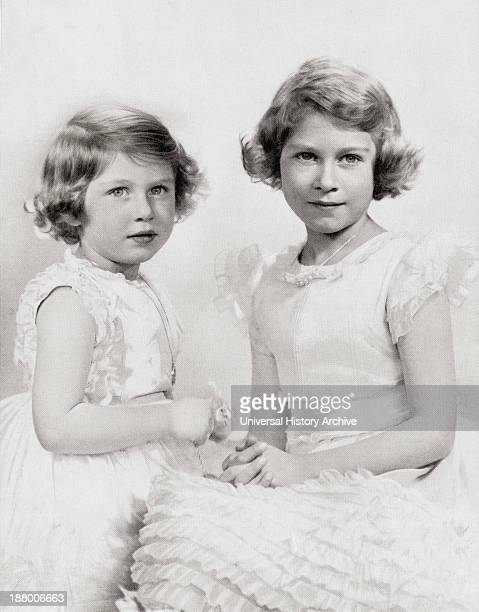 Queen Elizabeth Ii Right As A Princess Circa 1937 And Princess Margaret Left From The Coronation Of Their Majesties King George Vi And Queen...
