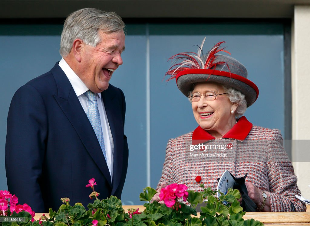queen-elizabeth-ii-shares-a-joke-with-race-horse-trainer-sir-michael-picture-id614896134