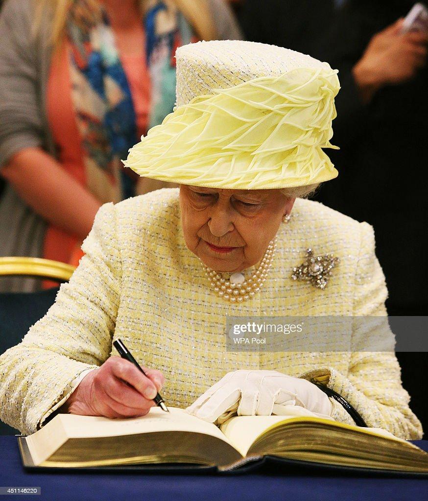 Queen Elizabeth Ii And Duke Of Edinburgh Visit Northern
