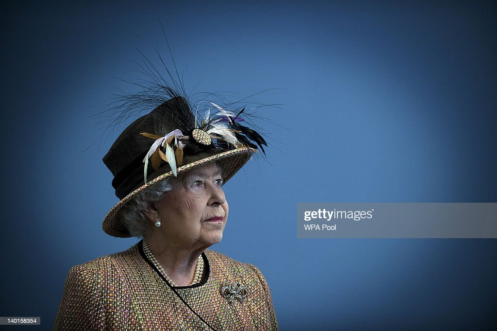 Queen Elizabeth II smiles as she opens the refurbished East Wing of Somerset House, on February 29, 2011 in London, England.