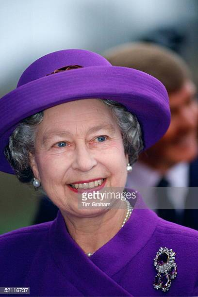 Queen Elizabeth II Smiling On The Actual Day Of The 40th Anniversary Of Her Accession To The Throne On The Death Of Her Father King George Vi The...