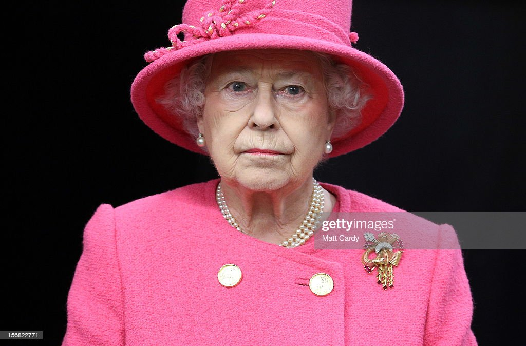 Queen <a gi-track='captionPersonalityLinkClicked' href=/galleries/search?phrase=Elizabeth+II&family=editorial&specificpeople=67226 ng-click='$event.stopPropagation()'>Elizabeth II</a>, takes a tour of the recently refurbished Bristol Old Vic Theatre as part of her Jubilee tour on November 22, 2012 in Bristol, England.