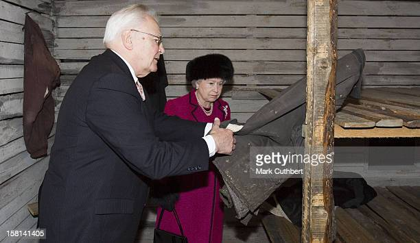Queen Elizabeth Ii The Duke Of Edinburgh Visit The Baltic StatesVisit To The Occupation Museum In Riga Latvia Viewing A Reconstruction Of A Gulag...