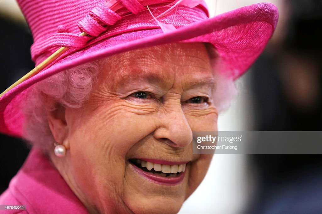 Queen Elizabeth II tours Birmingham New Street Station during the official opening of the refurbished rail station on November 19, 2015 in London, England. Queen Elizabeth II was accompanied by the Duke of Edinburgh to officially open the refurbished New Street Station following its 750 GBP million-pound refurbishment. The five-year renovation of Birmingham New Street Station now houses an enlarged passenger concourse, which accommodates the 170,000 travellers . The Queen also placed a wreath on the Pals War Memorial to railway workers.
