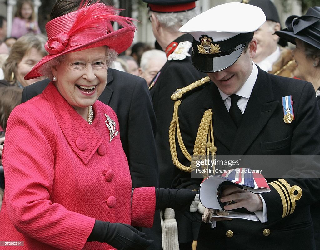 Queen Elizabeth II undertakes a walkabout in Windsor Town Centre to meet the crowds who have gathered to celebrate the Queen's 80th Birthday on April 21, 2006 in Windsor, England.
