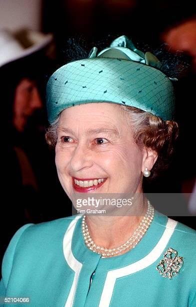 Queen Elizabeth II Visiting The Qeii Ship Named After Her
