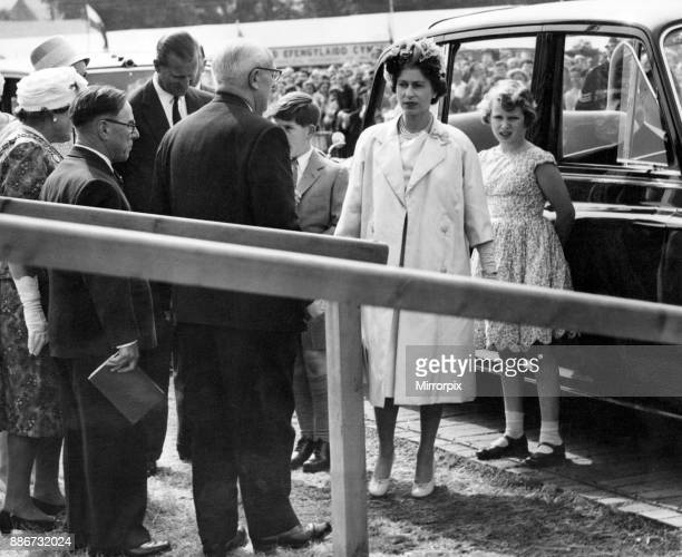 Queen Elizabeth II visiting Wales The Queen The Duke of Edinburgh and the Prince of Wales stand together as they are greeted at the Royal Pavilion on...