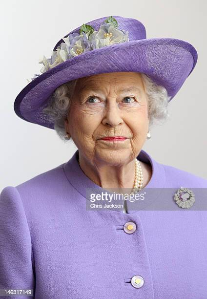 Queen Elizabeth II visits a new maternity ward at the Lister Hospital on June 14 2012 in Stevenage England The Queen is on a two day tour of the East...