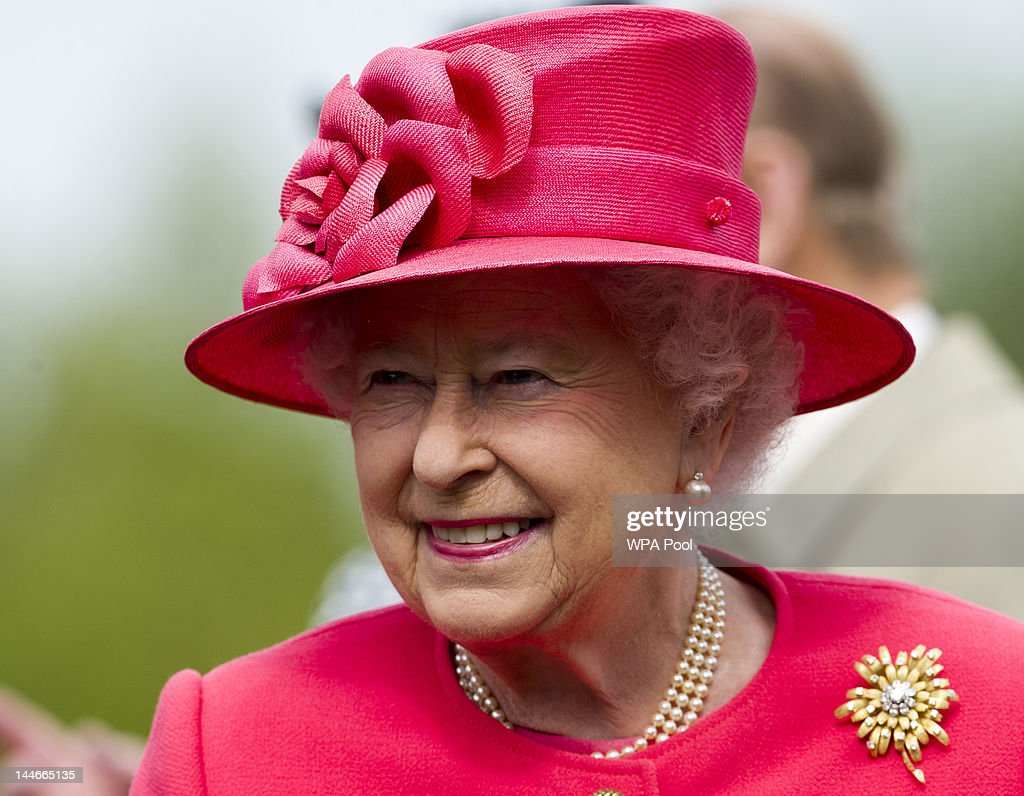 Queen Elizabeth II visits Chester Zoo as part of her tour of the North West on May 17 2012 in Chester England The Queen is visiting many parts of...
