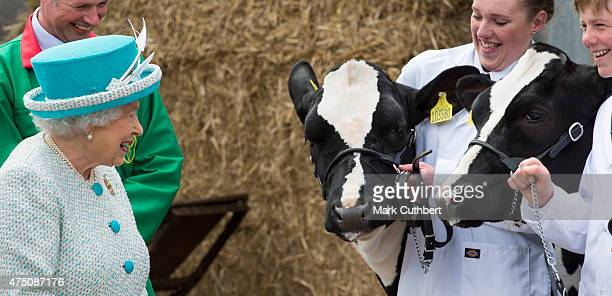 Queen Elizabeth II visits Lodge Livery and Dairy Yard on May 29 2015 in Lancaster England