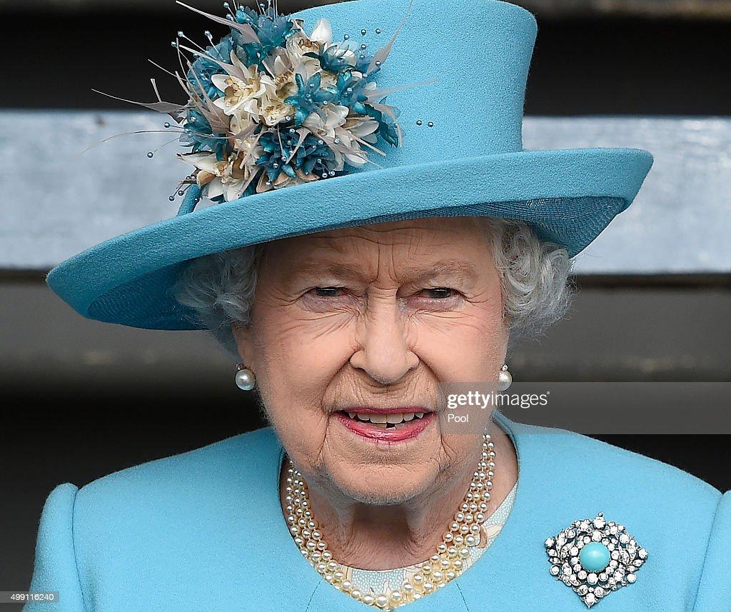 Queen Elizabeth II visits Marsa racecourse in the outskirts of Valletta on November 28, 2015 in Valletta, Malta.
