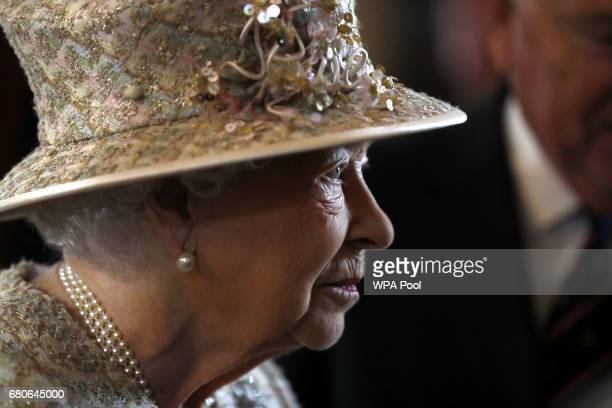 Queen Elizabeth II visits Pangbourne College on the occasion of the school's centenary on May 9 2017 in Pangbourne England Founded in 1917 as a...