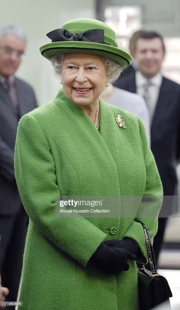 Queen Elizabeth II visits Radhome Laund Farm on May 25, 2006 near Clitheroe, England.