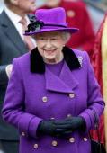 Queen Elizabeth II visits Southwark Cathedral on November 21 2013 in London England