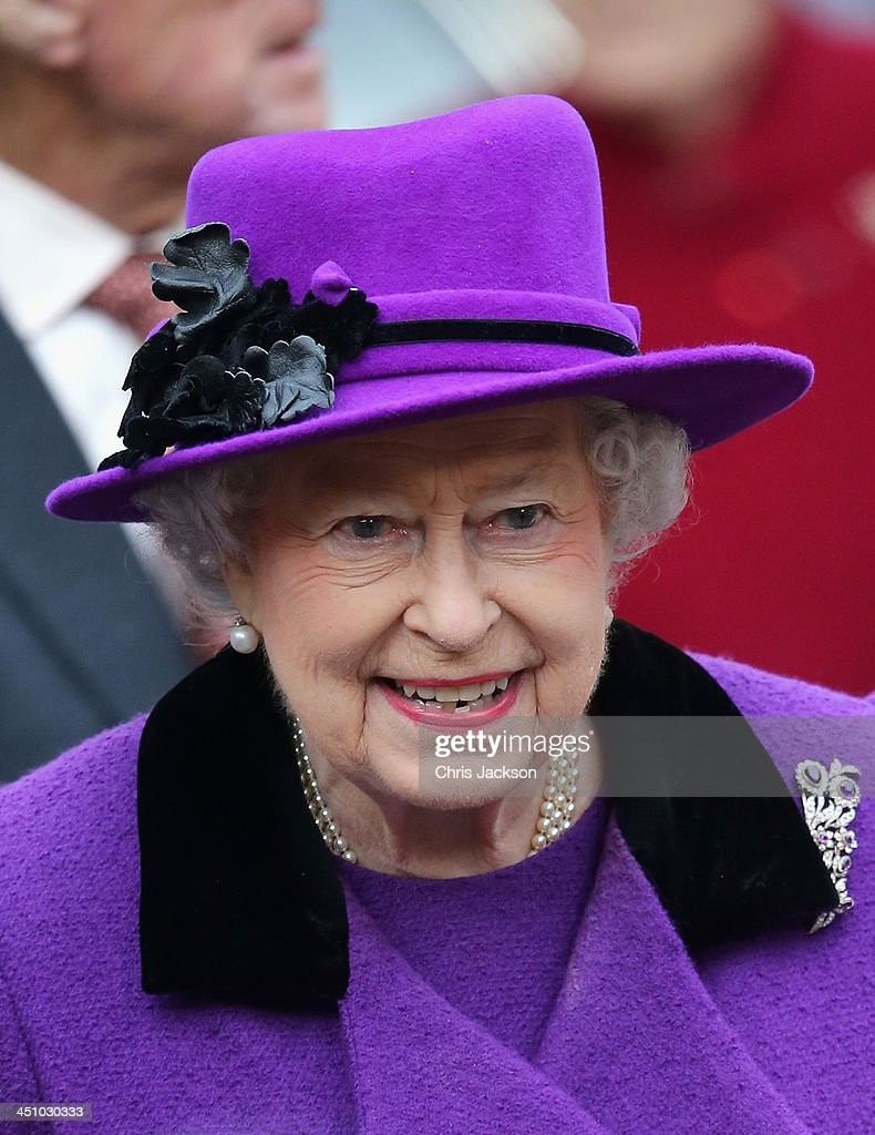 Queen Elizabeth II visits Southwark Cathedral on November 21, 2013 in London, England.
