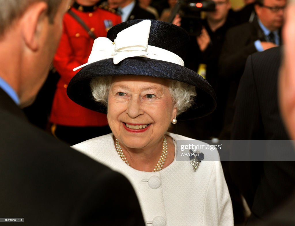 Queen <a gi-track='captionPersonalityLinkClicked' href=/galleries/search?phrase=Elizabeth+II&family=editorial&specificpeople=67226 ng-click='$event.stopPropagation()'>Elizabeth II</a> visits the Canadian combined forces base on June 29, 2010 in Halifax, Nova Scotia, Canada. Dozens of foreign ships gathered as part of celebrations marking the centenary of the Canadian Navy today. The Queen and Duke of Edinburgh are honouring the maritime achievements of the Commonwealth country during their royal tour of Canada.