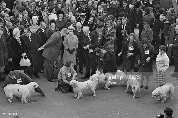 Queen Elizabeth II visits the Crufts Dog Show at the Olympia exhibition centre London 9th February 1969