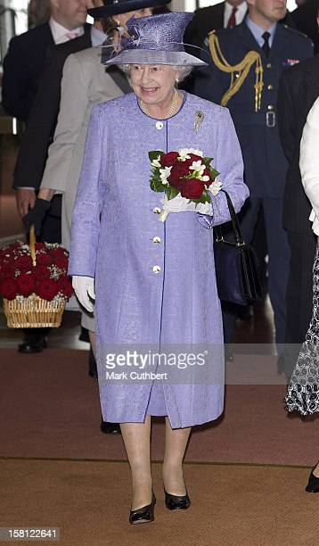 Queen Elizabeth Ii Visits The Qe2 In Southampton