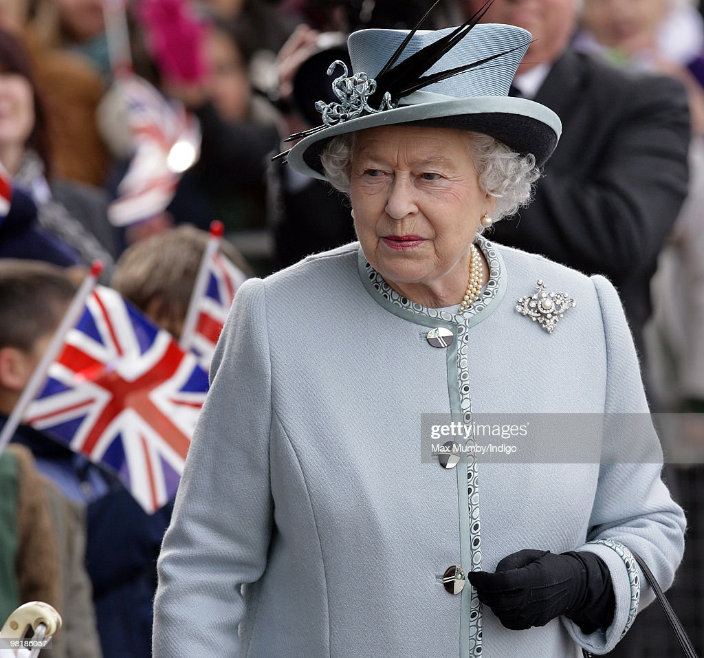 HM Queen <a gi-track='captionPersonalityLinkClicked' href=/galleries/search?phrase=Elizabeth+II&family=editorial&specificpeople=67226 ng-click='$event.stopPropagation()'>Elizabeth II</a> visits the Royal Derby Hospital to offically open it on April 1, 2010 in Derby, England.