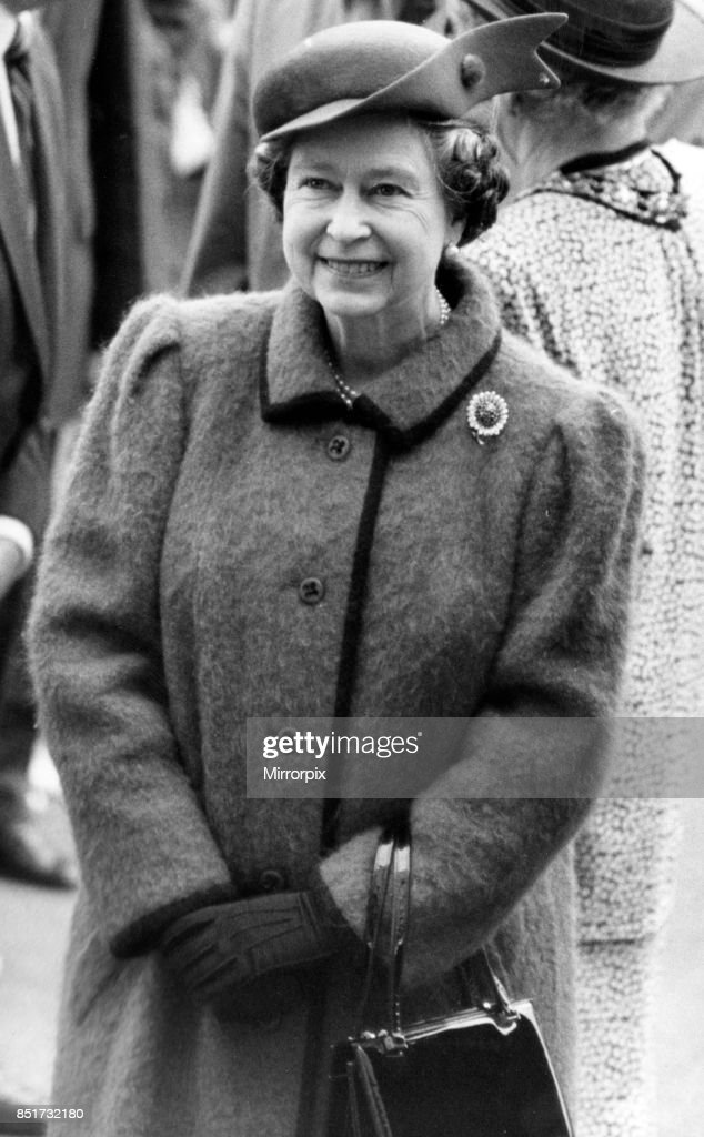 Queen Elizabeth II visits Wales, 20th April 1989.