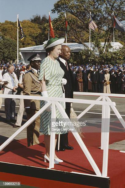 Queen Elizabeth II with Hastings Banda President of Malawi during her visit to Malawi July 1979
