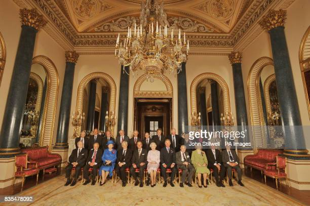 Queen Elizabeth II with members of the Order of Merit Rt Hon Lord Rees of Ludlow Sir Tim BernersLee Prof Sir Michael Howard Sir David Attenborough...