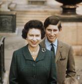 Queen Elizabeth II with Prince Charles at Windsor Castle June 1969