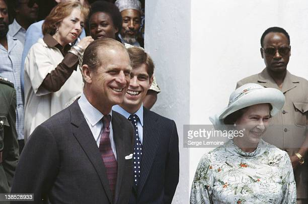 Queen Elizabeth II with Prince Philip the Duke of Edinburgh and Prince Andrew circa 1980