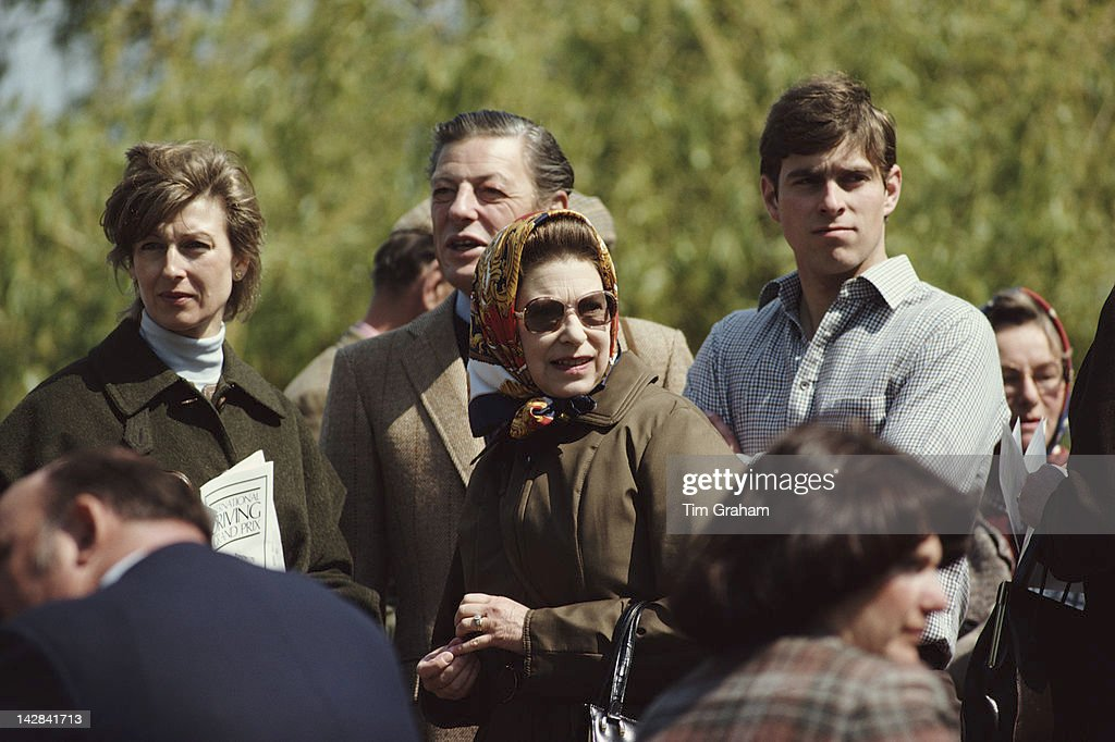 Queen <a gi-track='captionPersonalityLinkClicked' href=/galleries/search?phrase=Elizabeth+II&family=editorial&specificpeople=67226 ng-click='$event.stopPropagation()'>Elizabeth II</a> with Princess Alexandra, Sir <a gi-track='captionPersonalityLinkClicked' href=/galleries/search?phrase=Angus+Ogilvy&family=editorial&specificpeople=160704 ng-click='$event.stopPropagation()'>Angus Ogilvy</a> and her son <a gi-track='captionPersonalityLinkClicked' href=/galleries/search?phrase=Prince+Andrew+-+Duke+of+York&family=editorial&specificpeople=160175 ng-click='$event.stopPropagation()'>Prince Andrew</a> at the Royal Windsor Horse Show, Windsor, 10th May 1980.