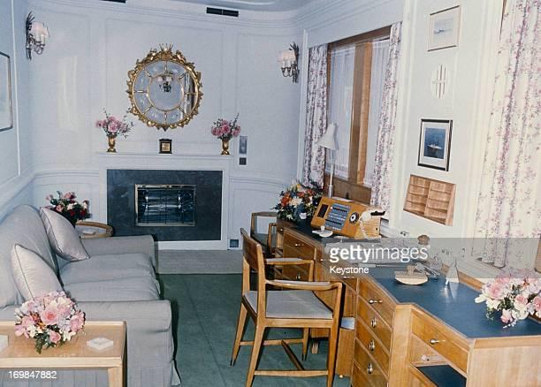Queen Elizabeth II's Sitting Room on the Royal Yacht Britannia 1981