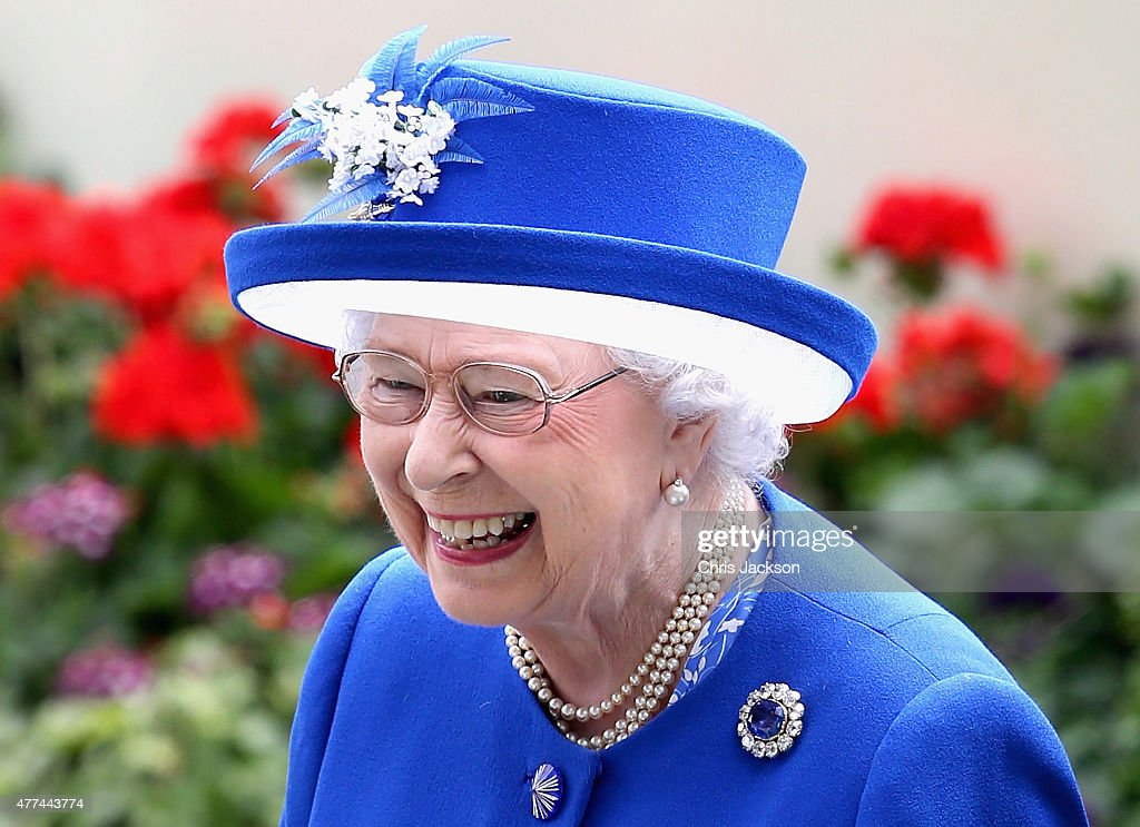 Queen Elizabeth in the parade ring on day 2 of Royal Ascot at Ascot Racecourse on June 17, 2015 in Ascot, England.