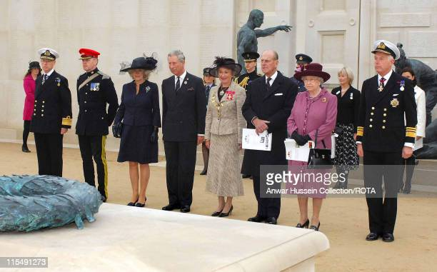 Queen Elizabeth ll accompanied by Prince Philip Duke of Edinburgh Prince Charles Prince of Wales and Camilla Duchess of Cornwall attends the...