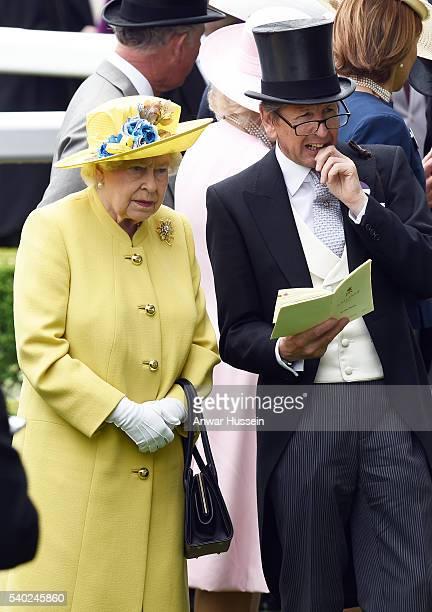 Queen Elizabeth ll and racing advisor John Warren attend Day 1 of Royal Ascot on June 14 2016 in Ascot England *** Local Caption ** Queen Elizabeth...
