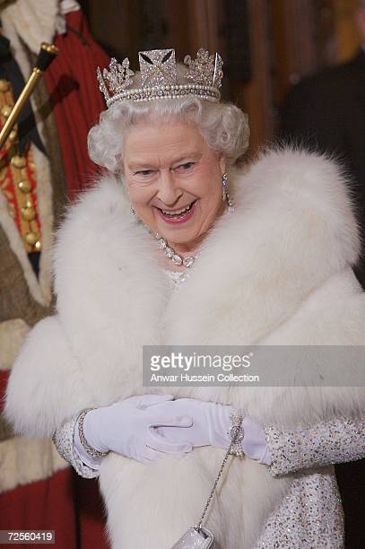 Queen Elizabeth ll arrives at the House of Lords for the State Opening of Parliament on November 15 2006 in London England