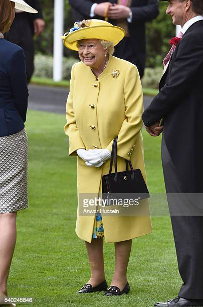 Queen Elizabeth ll attends Day 1 of Royal Ascot on June 14 2016 in Ascot England
