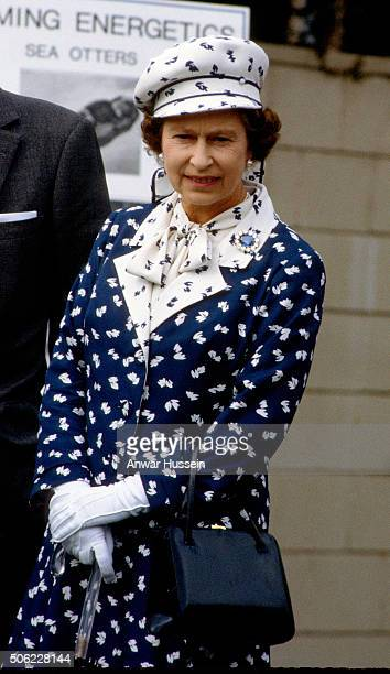 Queen Elizabeth ll visits the Institute of Oceanography on February 26 1983 in San Diego California USA