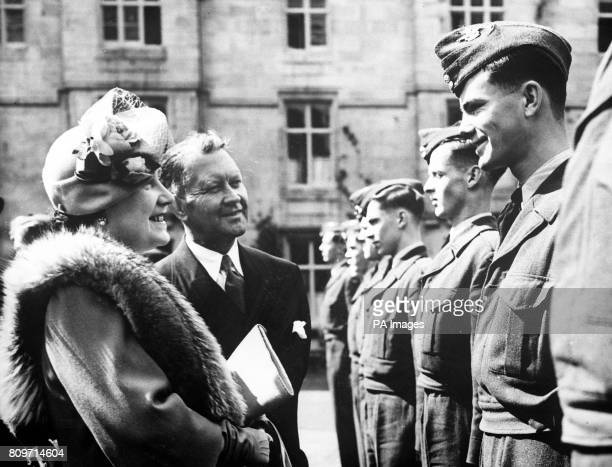 Queen Elizabeth meeting Canadian Air Cadets at Balmoral Scotland
