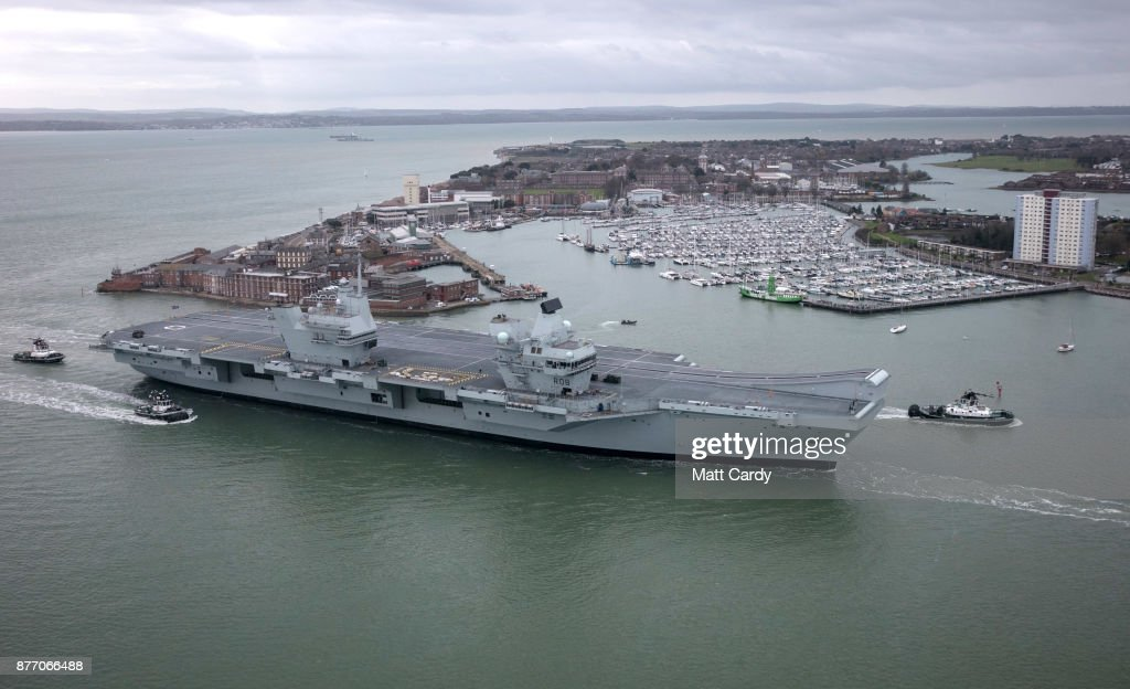 HMS Queen Elizabeth Returns To Home Port From Sea Trials