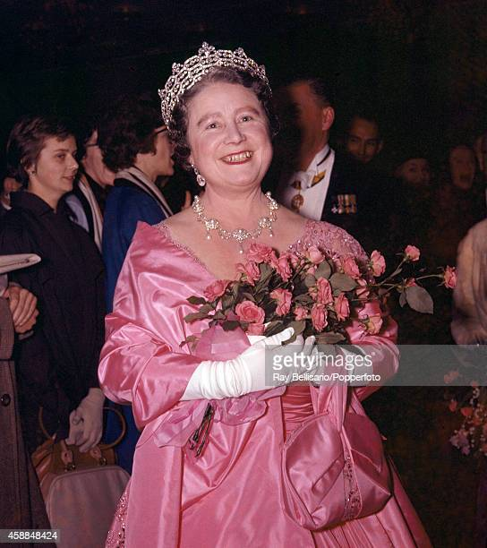 Queen Elizabeth The Queen Mother at the Victoria League Gala concert at the Royal Festival Hall in London on 25th October 1960