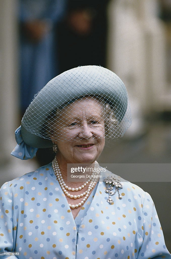 Queen Elizabeth, the Queen Mother (1900 - 2002), circa 1990.