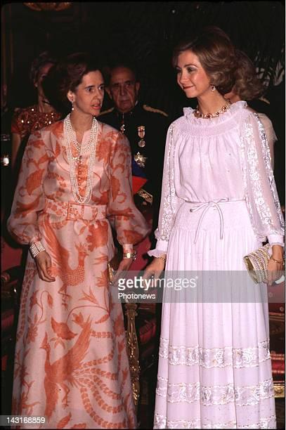 Queen Fabiola of Belgium and Queen Sophia of Spain