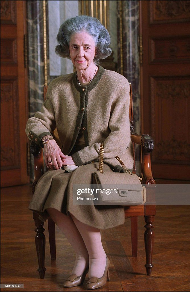 Queen Fabiola of Belgium in the Royal Palace