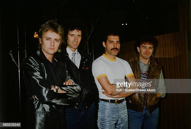 Queen Group shot photo session unknown 1981